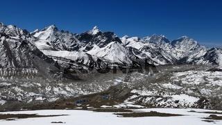 Khumbu Glacier and Gorak Shep