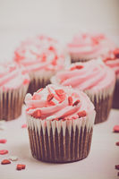 Pink Cupcake with Vintage Instagram Filter