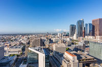 Skyline of financial district of Los Angeles