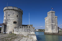 St. Nicholas and La Chaine towers,  La Rochelle, Charente-Maritime, France