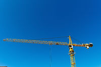 Baustelle eines Industriegebäudes