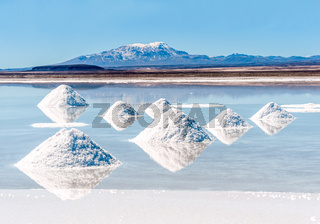 Salt lake - Salar de Uyuni in Bolivia
