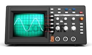 3d modern device oscilloscope