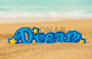 Word Dream on the sand