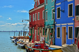 Burano - Aussicht auf die Lagune von Venedig