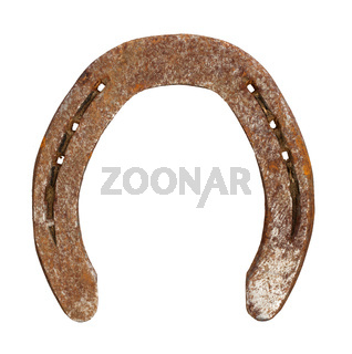 Rusty metal horseshoe