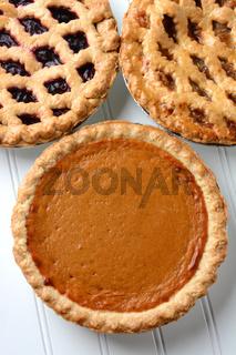 Three Pies Closeup