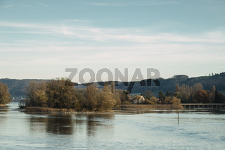 Die Werd Inseln im Rhein