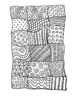 Patchwork carpet, sketch for your design