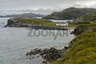 Küste mit Buchten, Schottland, Grossbritannien