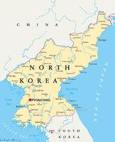 Nordkorea politische Landkarte
