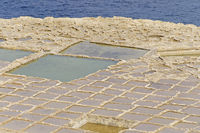 Salzfelder auf Gozo, Malta