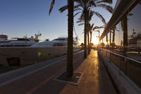 Sunset at the famous Puerto Portals in Majorca