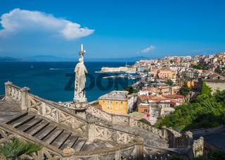 View of medieval town of Gaeta, Lazio, Italy