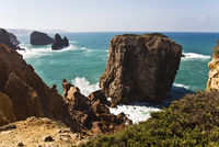 Felsenküste an der Algarve/Portugal