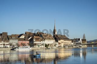 Blick über den Rhein zur Altstadt von Stein am Rhein