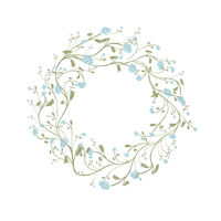 Spring floral frame for your design