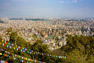 Kathmandu city view from Swayambhunath