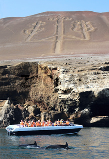 Candelabrum in Paracas national park, Peru