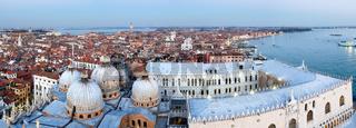 Venice city (Italy) top panorama.