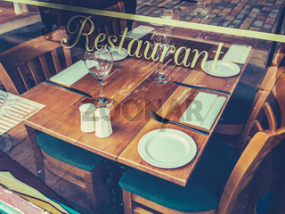 Retro Rustic Restaurant Table