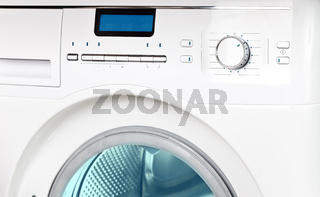 The washing machine - a close up of the display