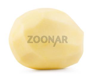 Raw peeled potatoes