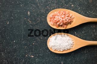 Himalayan and white salt