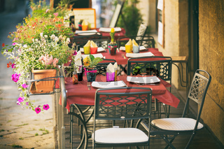 Typical small cafe in Tuscany
