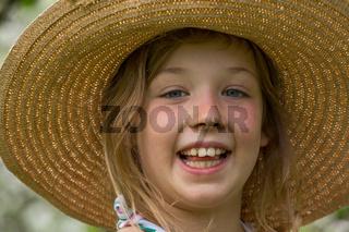 M Maedchen Hut Gesicht