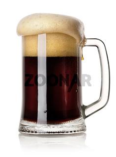 Mug of black beer