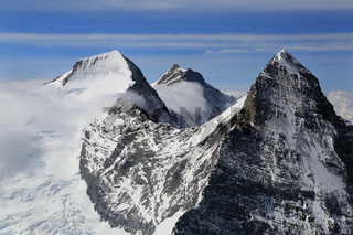 Berner Alpen mit Eiger, Moench und Jungfrau