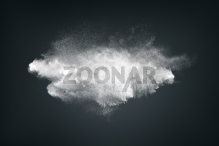 Abstract dust cloud background
