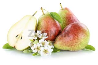 Birnen Birne geschnitten Früchte Obst Freisteller freigestellt isoliert