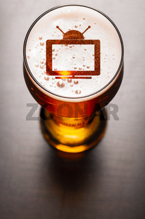 lager beer on table