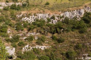 Nekropolis Pantalica Grabkammer Wand