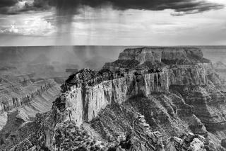 beautiful grand canyon national park north rim arizona (black and white)