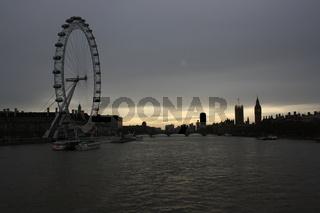 London, Panorama mit London Eye