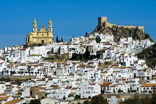 Die weisse Stadt, pueblo blanco, Olvera, Andalusien, Spanien
