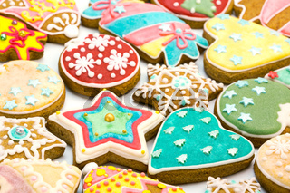 mixed christmas gingerbread cookies