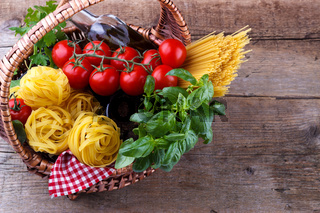 Italian food pasta ingredients