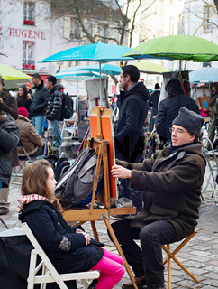 Montmartre painters, Paris