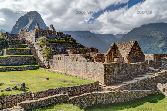 Ruins of old buildings in Machu Picchu