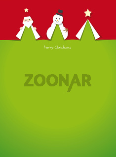 christmas cards cut outs vector