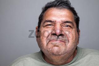 Closeup portriat of an elderly man