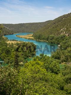 Luftaufnahme vom Krka Nationalpark in Kroatien