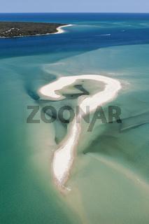 Luftaufnahme der Moreton Bay, Australien