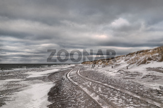 Ostsee - Spuren am Strand