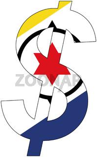 dollar - flag of bonaire