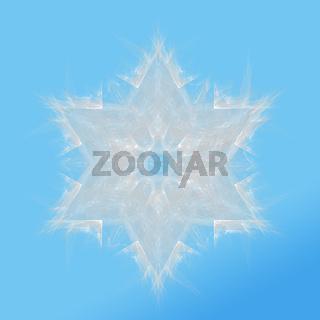 Fraktal Schneeflocke